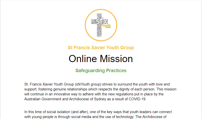 sfxYouth Online Mission Document